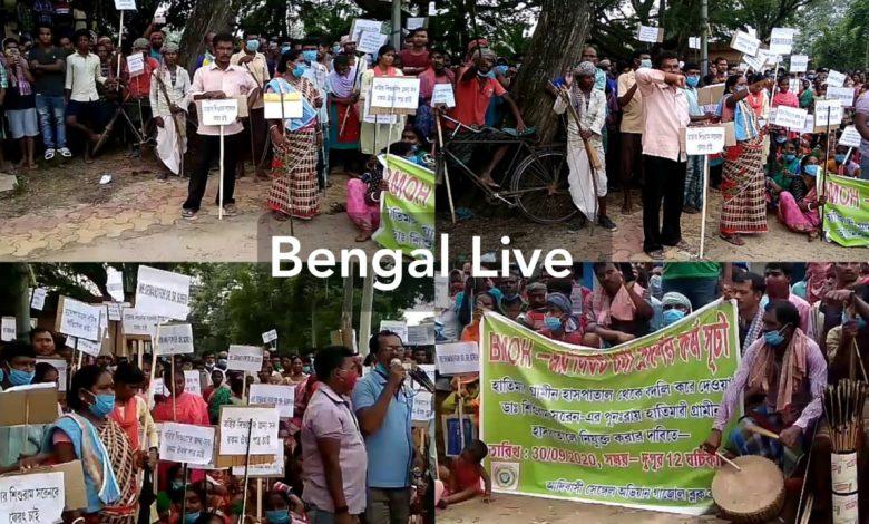 tribal people resist doctor's transfer in west bengal