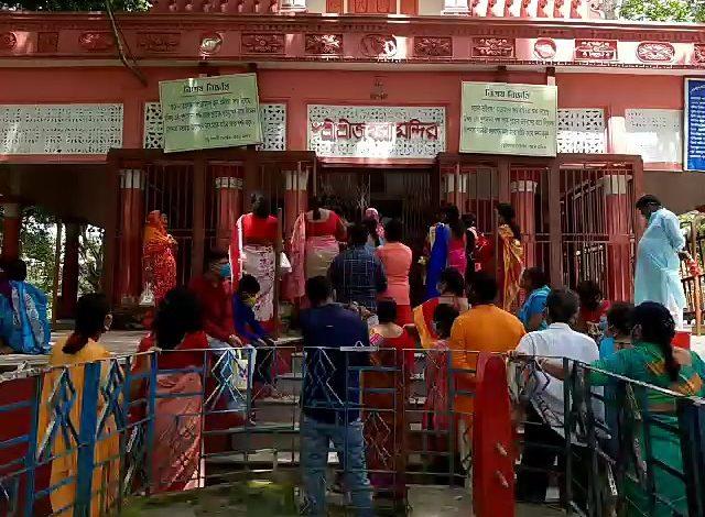beautification work around jahura kali temple in maldah starts