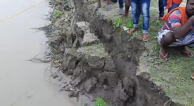 embankment in danger in maldah