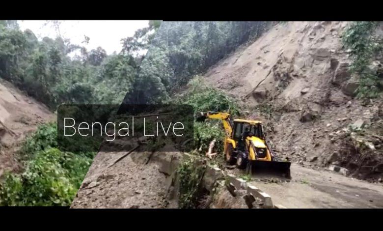 landslide in sevak in darjeeling district