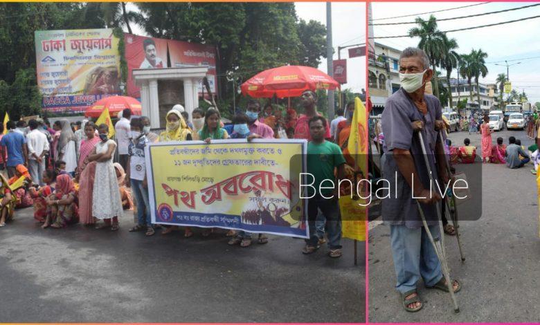 people blocked nh-34 in raiganj