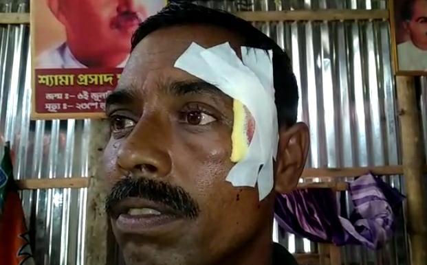 tmc attack on bjp in coochbehar