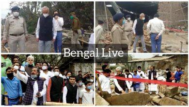congress mla team visits sujapur explosion spot