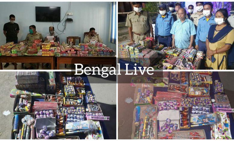 maldah district police seized 440 kg firecrackers before kali puja