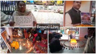 followers of suvendu adhikari in raiganj pray for his victory