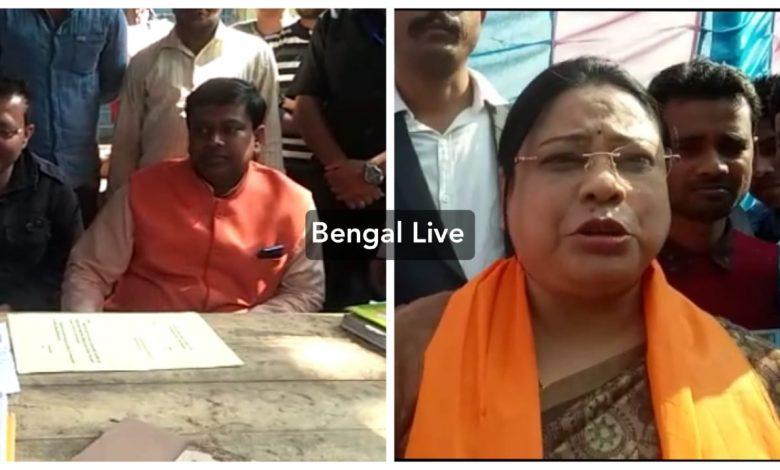 bjp mp sukanta majumder and union minister debasree chowdhury