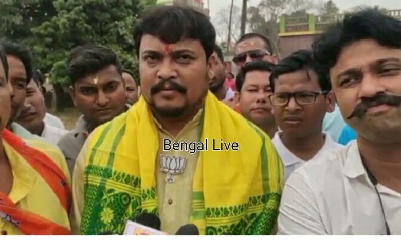 BJP candidate Soumen Roy in Kaliaganj