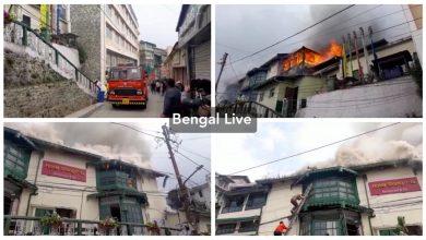 fire at a hotel in darjeeling